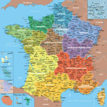 100 Carte de France