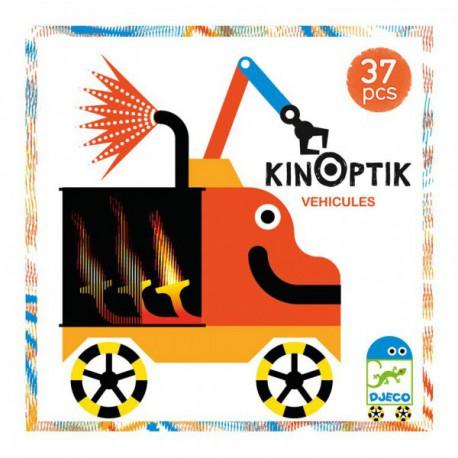 Kinoptic Véhicules - Djeco - Jouets en bois  - Empiler Assembler
