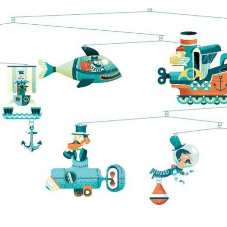 Vaisseaux marins - Djeco - Mobiles - Accessoires