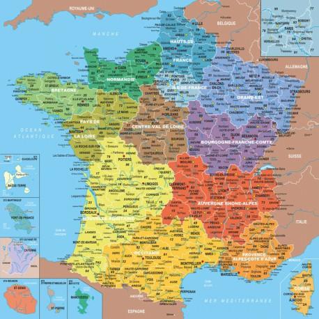 100 Carte de France - Puzzles Michèle Wilson - DE 100 à 500 pièces - Puzzles