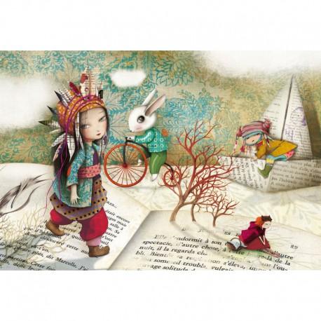 100 Voyage au pays des livres - Puzzles Michèle Wilson - DE 100 à 500 pièces - Puzzles