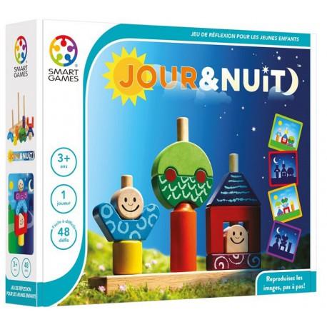 Jour et nuit - Smart Games - Jouets en bois  - Empiler Assembler - Jeux en solo