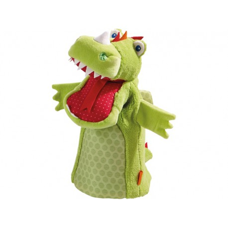 Gant marionnette Dragon Vinni - HABA - Marionnettes - Jouets tissu