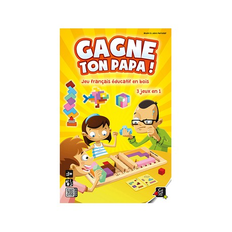 Gagne ton Papa ! - Gigamic - Jeux de société - Jeux d'adresse - Jeux en solo - Pour les petits (2-4 ans) - Pour les enfants (5-7 ans)