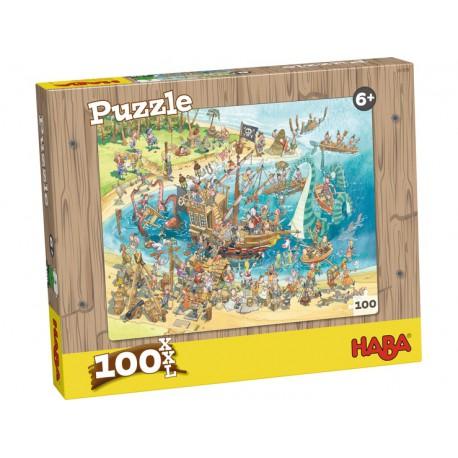 100 Puzzle Pirate - HABA - DE 100 à 500 pièces - Puzzles
