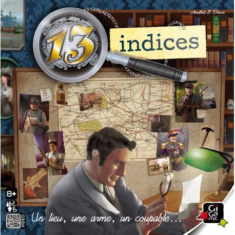 13 indices - Gigamic - Autres jeux logiques - Pour tous (8 ans - Adulte)