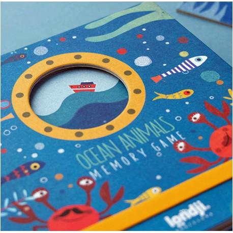 Ocean Animals Memory Game - Londji - Pour les 2-5 ans - Pour les 5-8 ans - Jeux de société