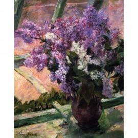Lilas à la fenêtre - Mary CASSATT