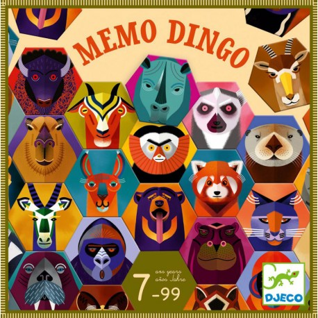 Memo Dingo - Djeco - A partir de 5-6 ans - A partir de 8-10 ans - Jeux de société