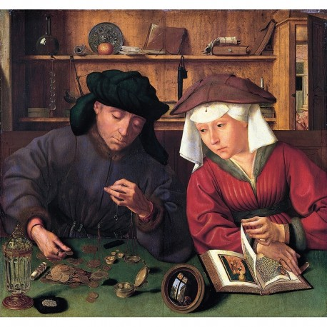 150 - Le prêteur et sa femme - Metsys - Puzzles Michèle Wilson - Puzzles Wilson - Puzzles