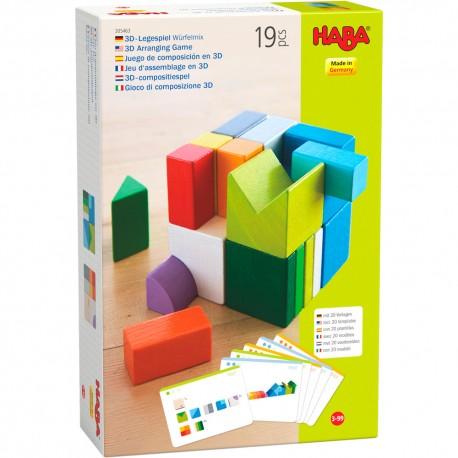 Assemblage 3D Cubes Mix - HABA - Empiler Assembler - Jouets en bois