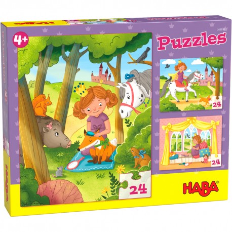 Puzzles Princesse Valérie - HABA - De 24 à 100 pièces - Puzzles