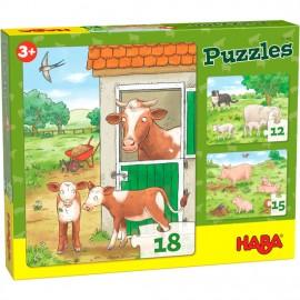 Puzzles Bébés animaux de la ferme
