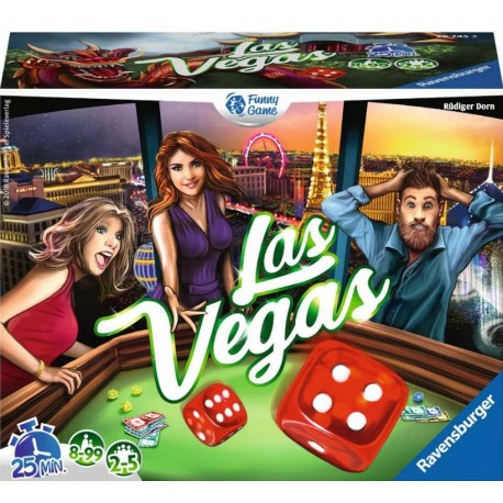 Las Vegas - Alea - Jeux de dés - Pour les 8 ans - Adultes - Jeux de société