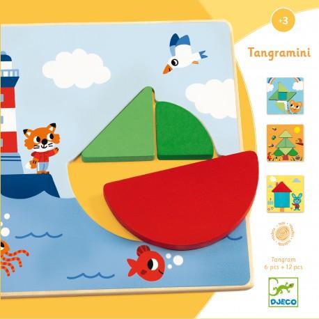 Tangramini - Djeco - Formes et couleurs - Jouets en bois