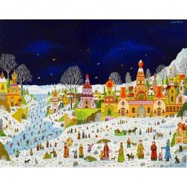 750 - Scène hivernale russe