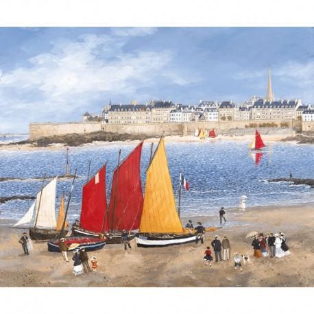 0350 - Les remparts de Saint-Malo / F. Delacroix - Puzzles Michèle Wilson - Puzzles Wilson - Puzzles