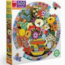 500 Purple Bird and flowers