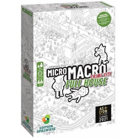 MicroMacro Crime City - Full House - Jeux d'enquête et de déduction - Jeux coopératifs - Pour les 8 ans - Adultes - Jeux de société
