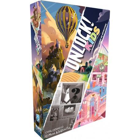 Unlock Kids - Histoires de détectives - Space Cowboys - Jeux d'enquête et de déduction - Jeux coopératifs - Pour les 5-8 ans - Pour les 8 ans - Adultes - Jeux de société