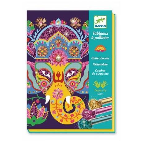 6-11 Paillettes / Animaux - Djeco - 6-11 ans - Loisirs créatifs