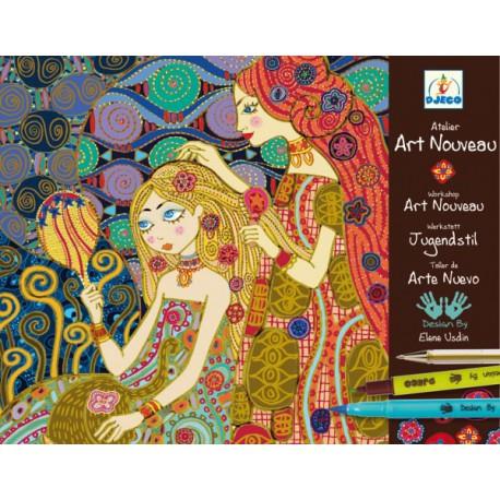 9-15 Atelier Art Nouveau - Djeco - 9-15 ans - Loisirs créatifs
