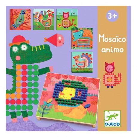Mosaïco Animo - Djeco - Jouets en bois  - Formes et couleurs