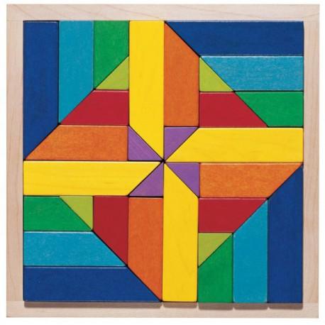 Mosaïque Geomix - HABA - Cubes, clous, mosaïques - Jouets en bois