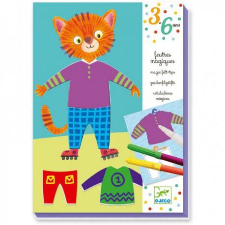 3-6 Feutres - Djeco - 3-6 ans - Loisirs créatifs
